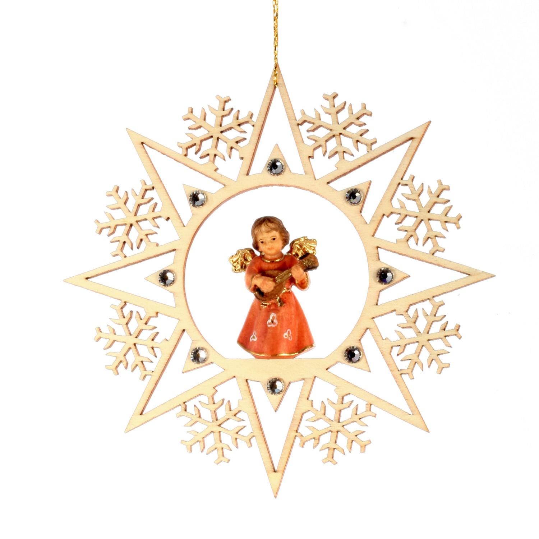Ангел с мандолиной со стразами Сваровски