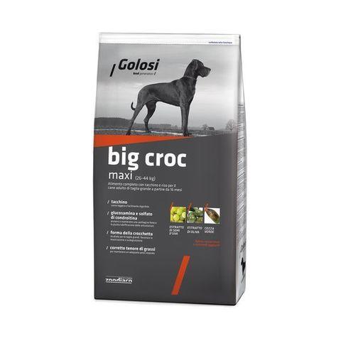 Сухой корм GOLOSI BIG CROC MAXI для взрослых собак крупных пород с индейкой и рисом 12 кг.