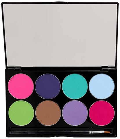 MEHRON Палитра аквагрима Makeup Paradise AQ Face & Body Paint 8 Color Palette - Pastel, 8 цветов по 7 г
