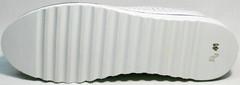 Летние женские туфли на плоской подошве Evromoda 215.314 All White.