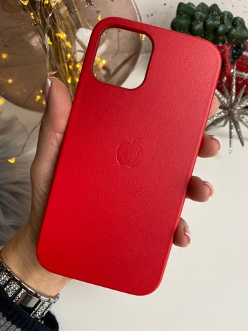 Чехол iPhone 12 Pro Max Leather Case with MagSafe /product red/