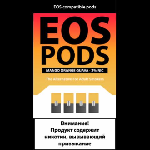 EOS 4 картриджа (для JUUL) Mango Orange Guava