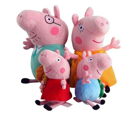 Семья Розовой Свинки набор мягких игрушек