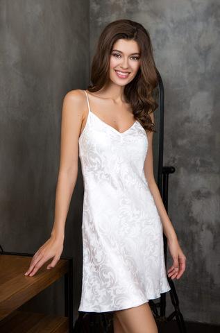 Шелковая белая сорочка Mia-Mia