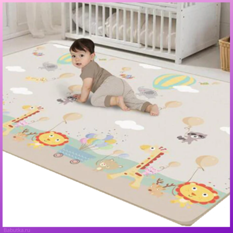 Складной коврик для детей с эффектом хлопкового покрытия