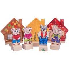 Кукольный театр Персонажи сказки Три поросенка, Краснокамская игрушка