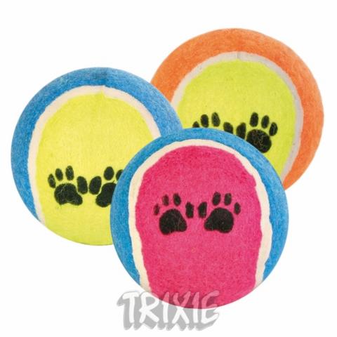 Trixiе 3475 Набор теннисных мячей д/собак, текстиль ф6,4см*36шт