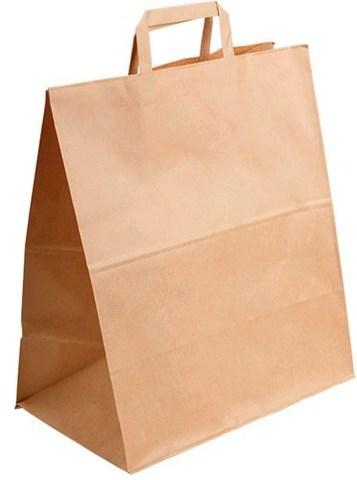 Пакет бумажный с плоскими ручками 320х180х320 мм крафт 70