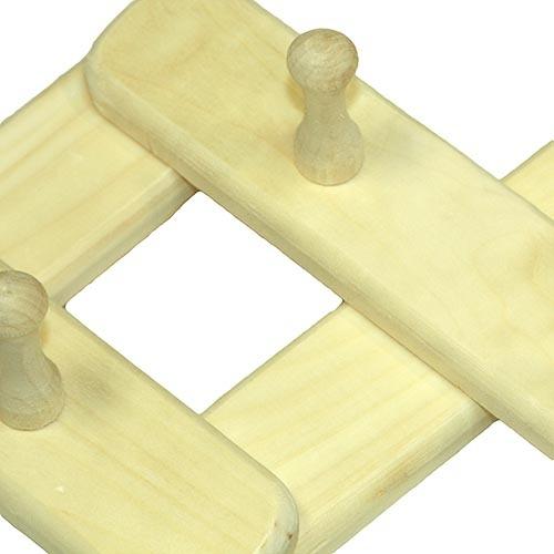 Вешалка 3-секционная из осины