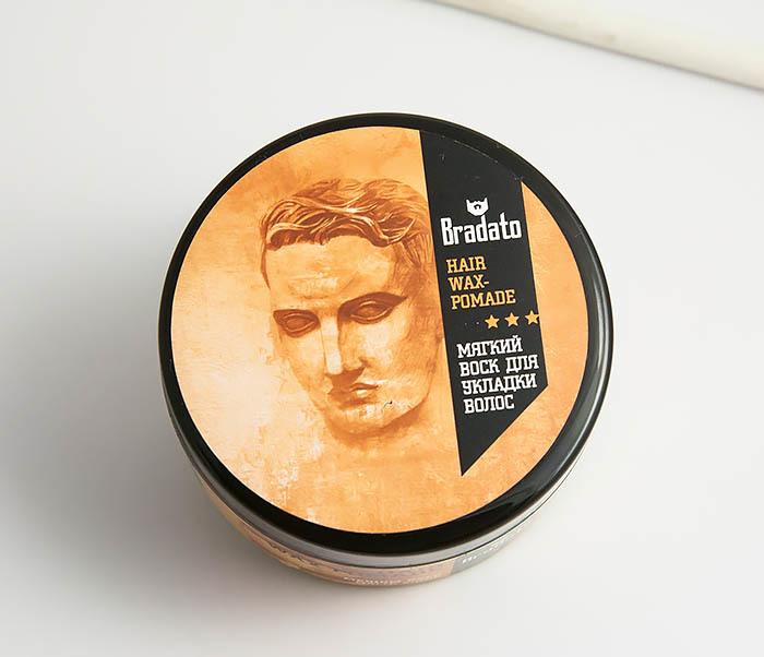 RAZ264 Мягкий воск для укладки волос средней фиксации, «Bradato» (100 мл) фото 02