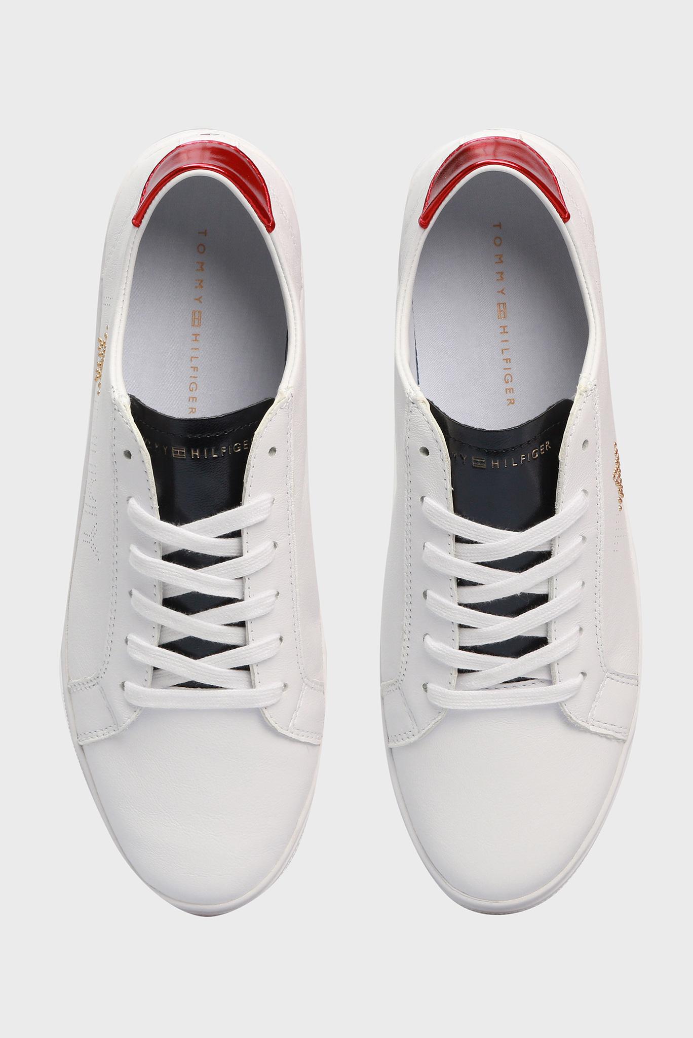 Женские белые кожаные сникеры Tommy Hilfiger