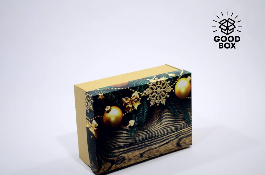 Новогодняя деревянная коробка купить в Алматы