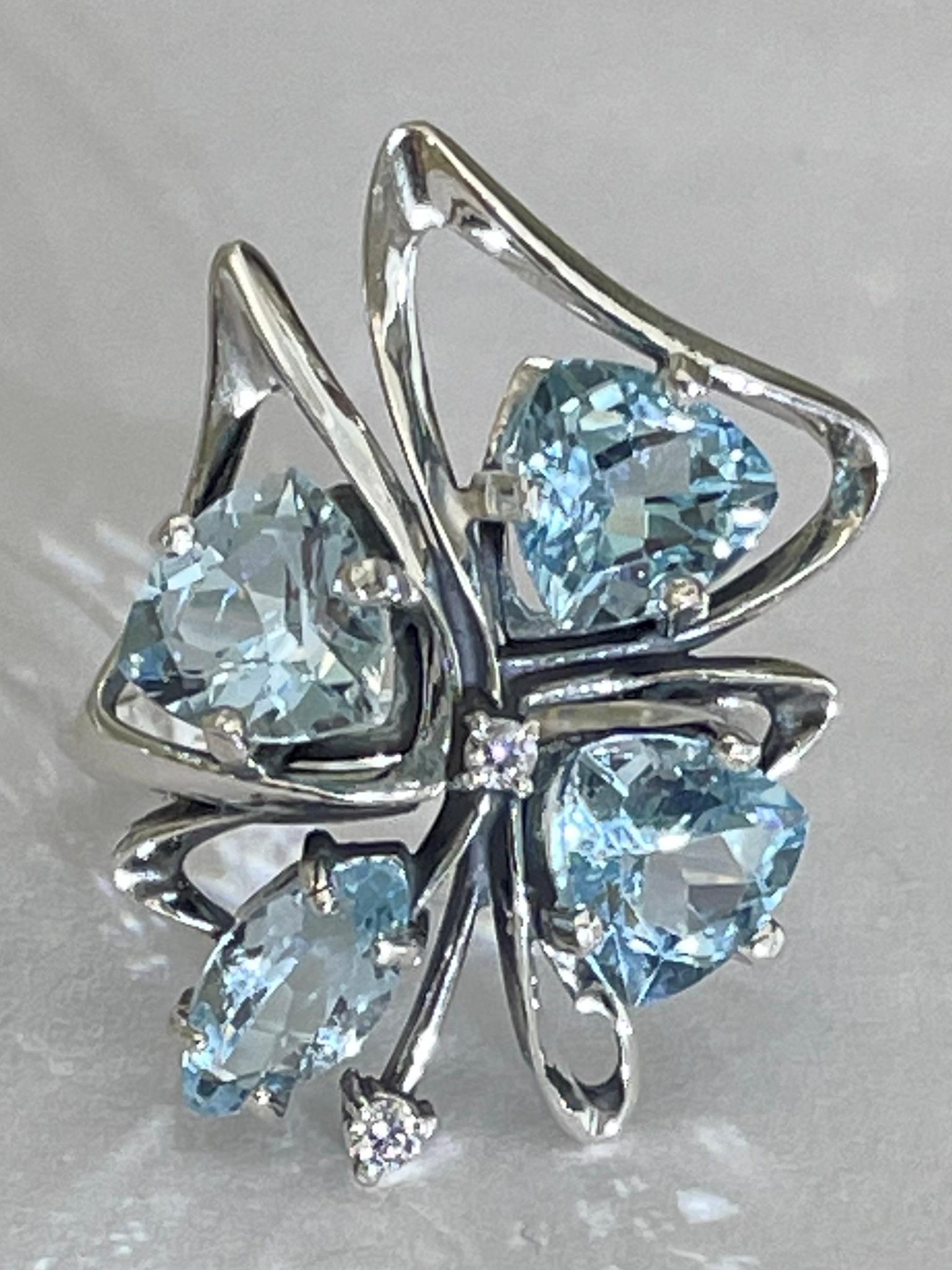 Дамона нат (кольцо из серебра)