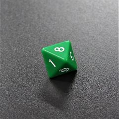Зеленый восьмигранный кубик (d8) для ролевых и настольных игр