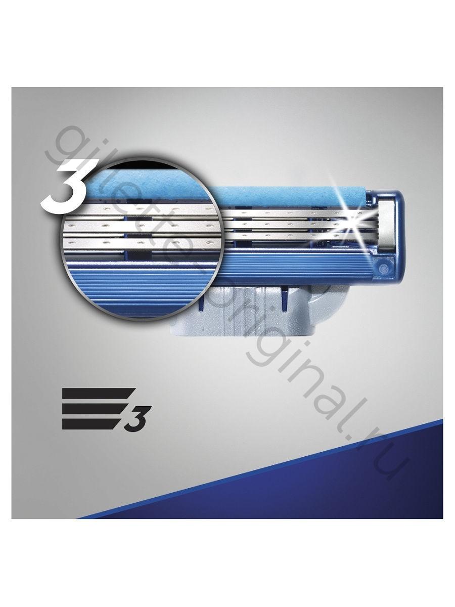 Сменные кассеты для бритья Gillette MACH3 Turbo (12 шт)