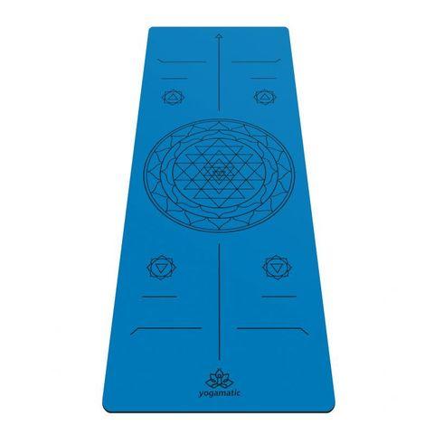 Каучуковый тревел коврик для йоги Sri Yantra 185*68*0,2 см