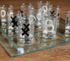Пьяная игра Крестики-нолики 9 стопок, доска 20х20 см, фото 2