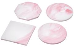 Подставки из керамики для пиал, кружек и стаканов розового цвета