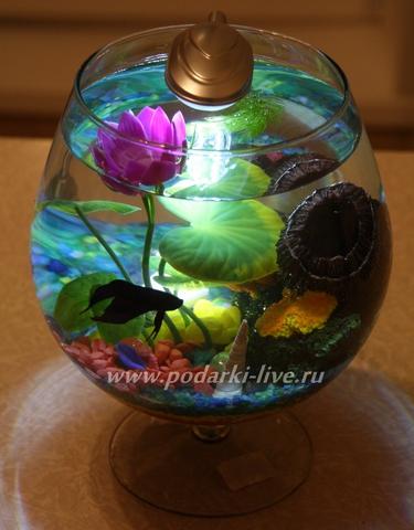 Мини аквариум бокал
