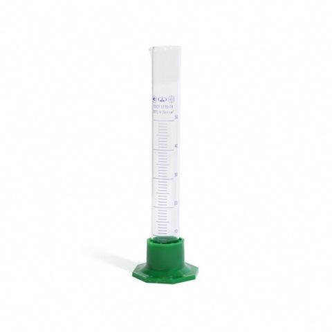 Цилиндр мерный стеклянный на пластмассовом основании 50 миллилитров