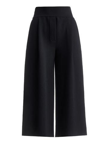 Женские брюки черного цвета из шерсти и кашемира - фото 1