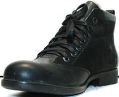Утепленные ботинки мужские классические зимние Luciano Bellini 6057-58K Black Leathers & Nubuk.