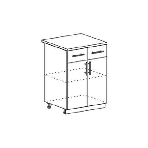 Лира МДФ ШН1Я-600 шкаф нижний с ящиком