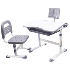 Rifforma Комплект парта и стул SET-17 белый/серый  (RFDC-0317)