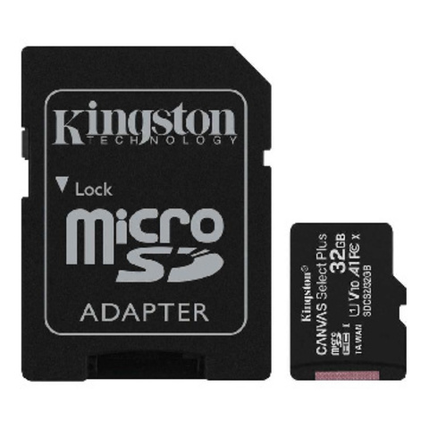 Карта памяти Kingston Canvas Select Plus microSDHC UHS-I +ад, SDCS2/32Gb