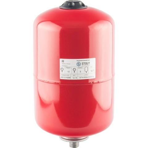 Бак расширительный на отопление 12л (цвет красный) Stout