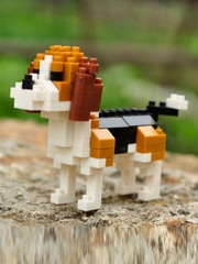 Конструктор Wisehawk & LNO Гончая 129 деталей NO. B18 Beagle Gift Series