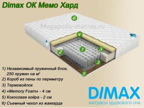Матрас Димакс ОК Мемо Хард заказать в Москве недорого от Мегаполис-матрас