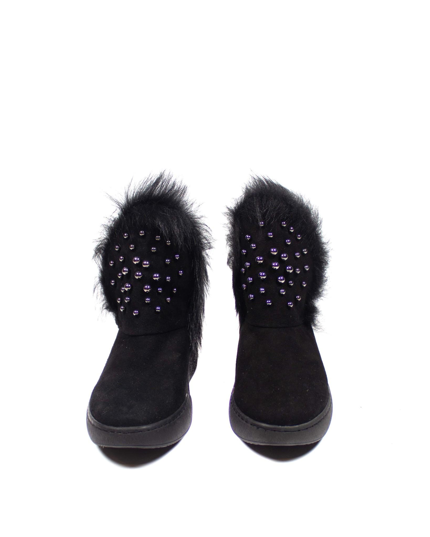 черные ботинки SM