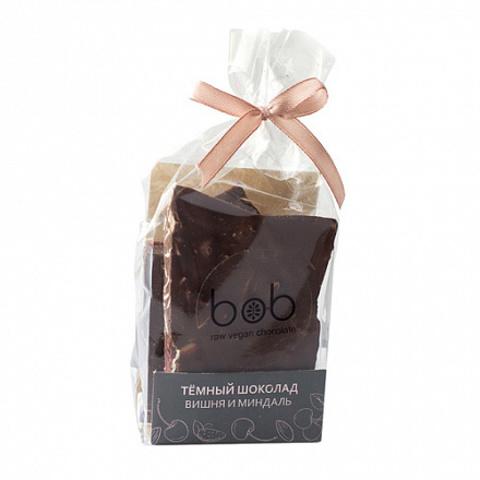 Bob шоколад темный с вишней и лепестками миндаля 100 гр