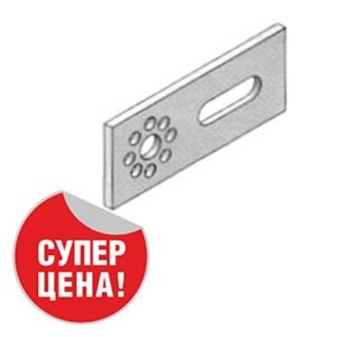 Пластина монтажная односторонняя водорозеток 73 мм Unipipe