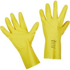 Перчатки Manipula Specialist Блеск L-F-01 из латекса желтые (размер 10-10.5, XL)