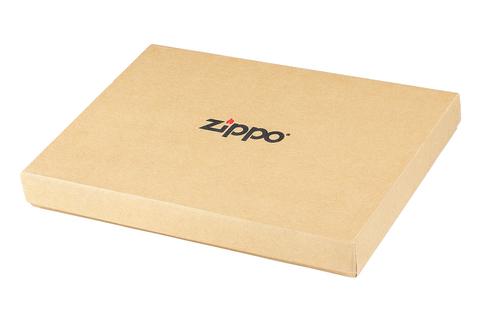 Кисет для табака Zippo, чёрный, натуральная кожа, 15,5x1,2x8 см123
