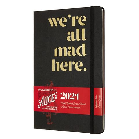 Еженедельник Moleskine LE Alice in Wonderland WKNT Large 130х210мм обложка текстиль 144стр. черный