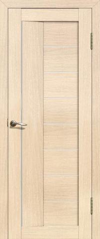 Дверь La Stella 201, цвет ясень латте, остекленная