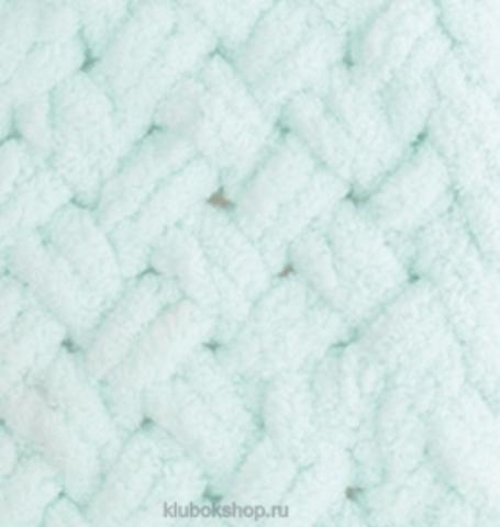 Пряжа Puffy Alize 15 Водяная зелень - толстая бархатистая пряжа для вязания руками. Купить в интернет-магазине недорого klubokshop.ru