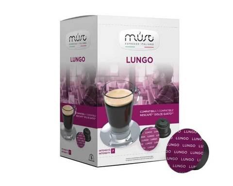Кофе в капсулах Must Lungo, 16 капсул для кофемашин Dolce Gusto