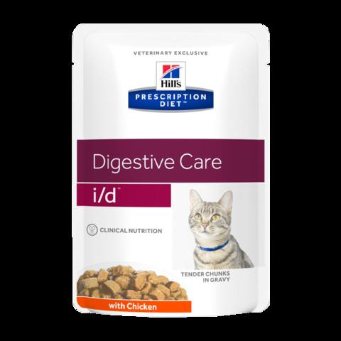Hill's Prescription Diet I/D Консервы для кошек при заболеваниях ЖКТ (пауч)