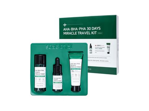 Набор для проблемной кожи с кислотами AHA/BHA/PHA 30 DAYS MIRACLE TRAVEL KIT 3