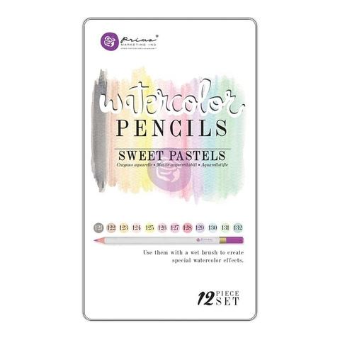 Акварельные карандаши Prima Mixed Media Watercolor Pencils 12шт. - Sweet Pastels