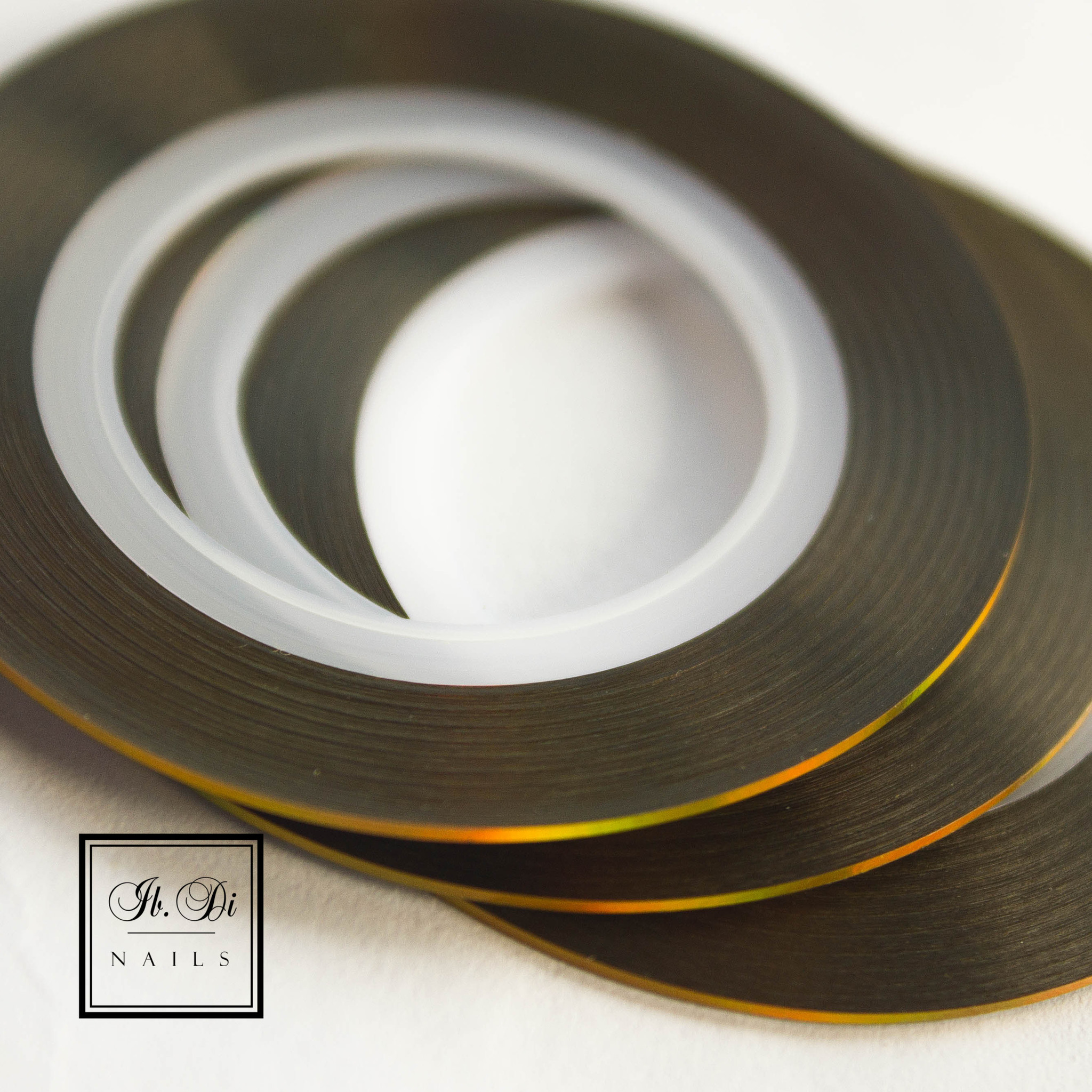Лента самоклеющаяся золото голография 1мм