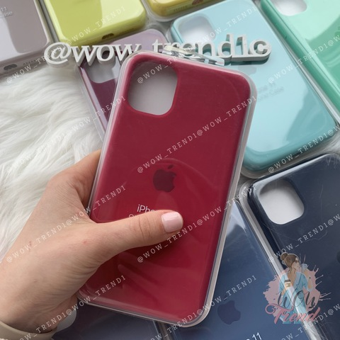 iPhone 11 Silicone Case Full /rose red/