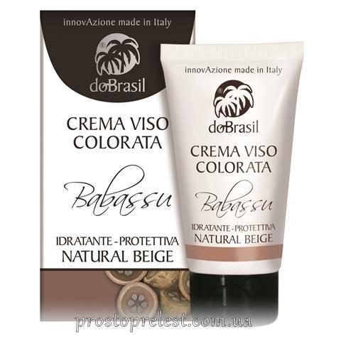 Dobrasil crema viso colorata babassu, idratante-protettiva natural beige - ВВ крем с маслом бабассу,тон
