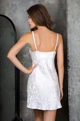 Платье белое шелковое домашнее 15151