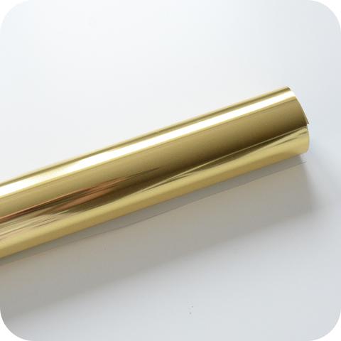 Термотрансферная пленка зеркальная золото  25х25 см