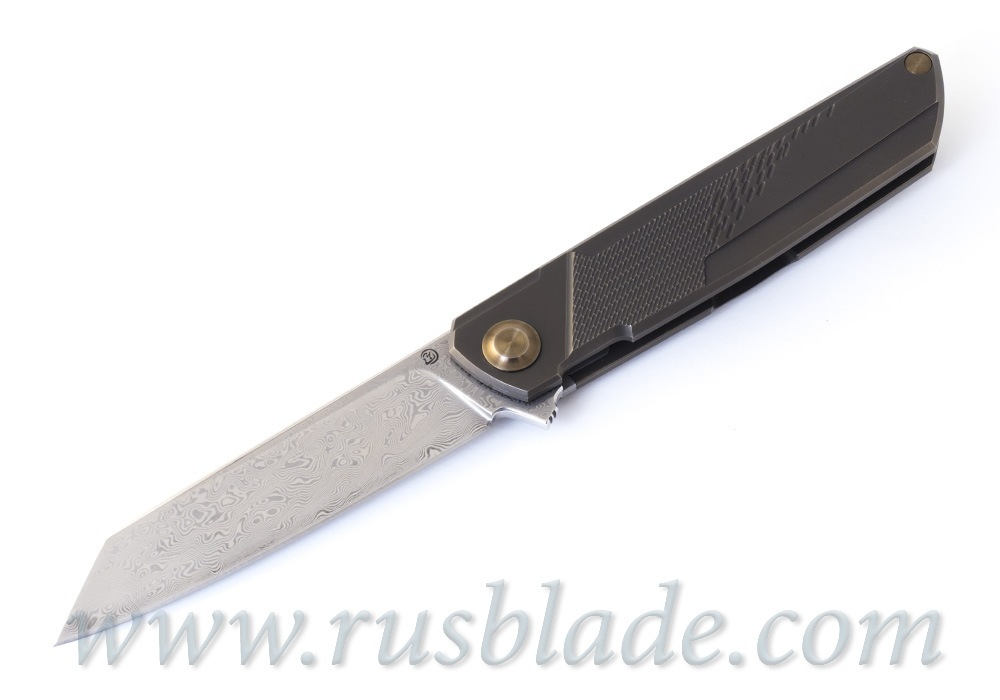 Cheburkov Dragon Damascus Folding Knife Limited